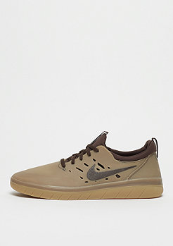 NIKE SB Nyjah Free Skateboarding gum dark brown/baroque brown