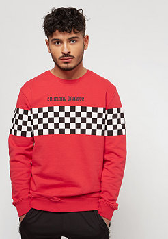 Criminal Damage CD Sweat Chequerboard red/white
