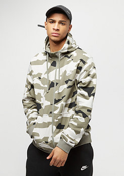 NIKE Sportswear Hoodie Camo light bone/sail/black/sail