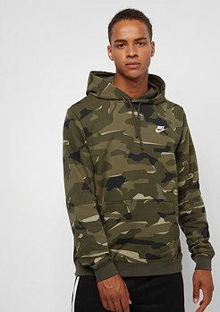 NIKE Sportswear Hoodie Camo medium olive/medium olive/black/sail