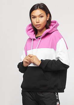 Urban Classics Oversize 3-Tone Hoody coolpink/white/black