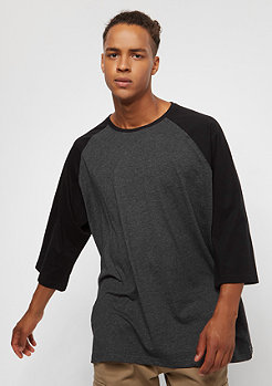 Urban Classics Oversize Contrast 3/4 Sleeve charcoal/black