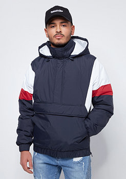 Urban Classics 3 Tone Pull Over navy/white/fire red