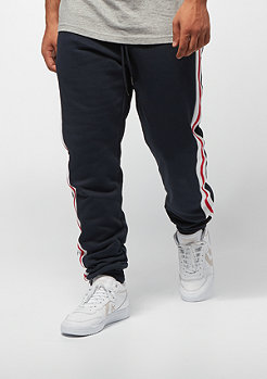 Urban Classics 3-Tone Side Stripe Terry navy/white/red