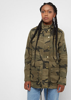 Urban Classics Camo Cotton Parka wood camo