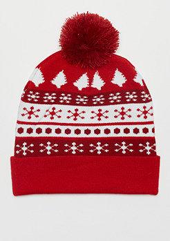 Urban Classics Christmas Dots red/white