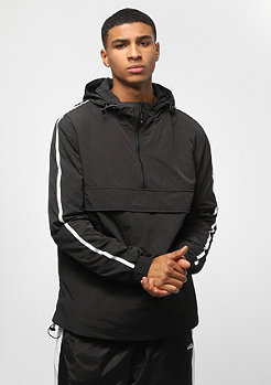 Urban Classics Crinkle Nylon Pull Over Jacket blk/wht