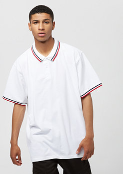 Urban Classics Oversize Double Stripe white/navy/firered