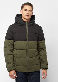 Urban Classics Hooded 2-Tone Puffer darkolive/black