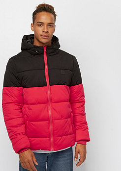 Urban Classics Hooded 2-Tone Puffer fire red/black