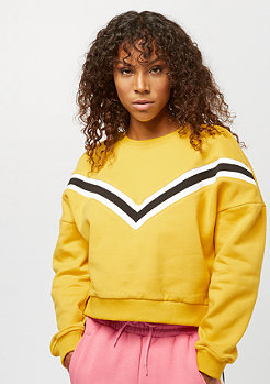 Urban Classics Ladies Inset Striped Crew honey