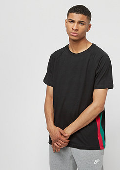 Urban Classics Raglan Side Stripe Tee black firered green