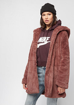 Urban Classics Hooded Teddy Coat darkrose