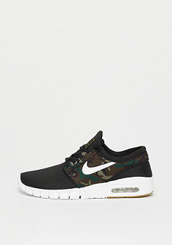 NIKE SB Stefan Janoski Max black/white-medium olive-gum light brown
