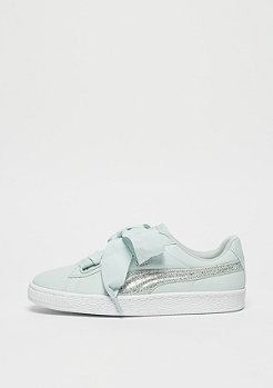 Puma Basket Heart Canvas blue flower-puma white-puma silver