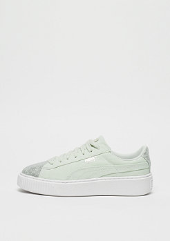 Puma Basket Platform Canvas blue flower-puma silver