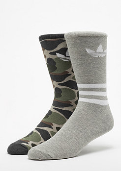 adidas Crew AOP 2er Pack medium grey heather