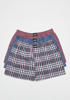 SNIPES 3er Boxer Cuffed plaid I
