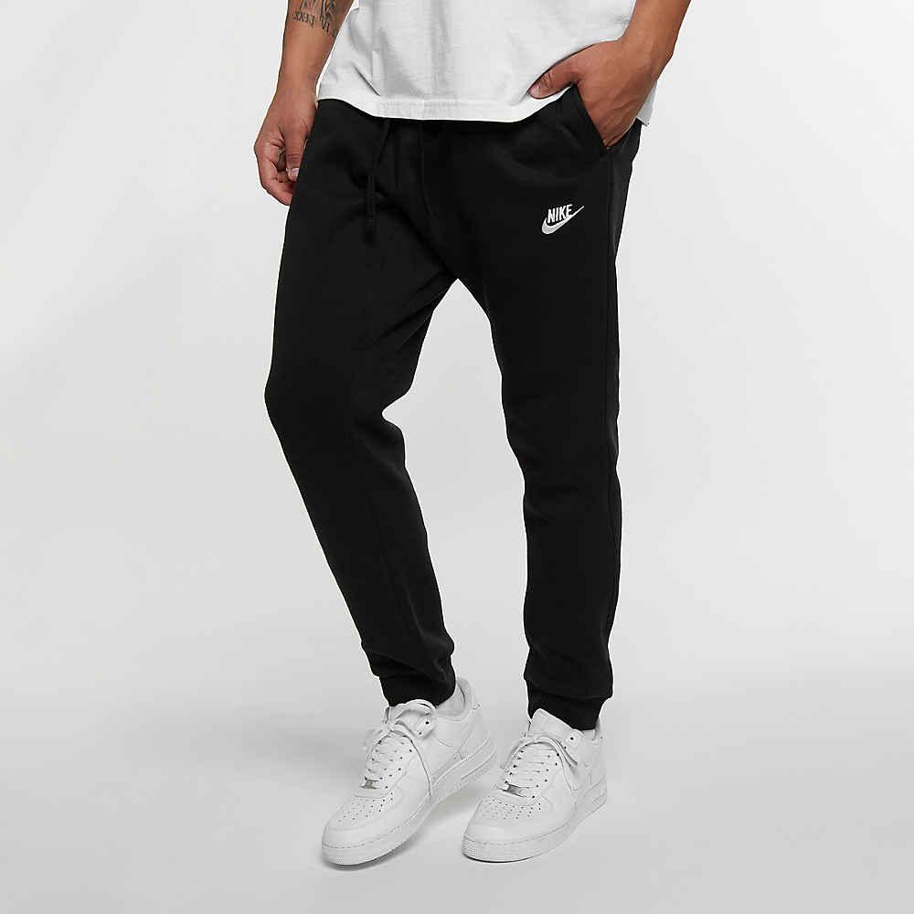 7766fe5890c01 Compra NIKE Pantalones de training Sportswear Jogger negro blanco Pantalones  de entrenamiento en SNIPES