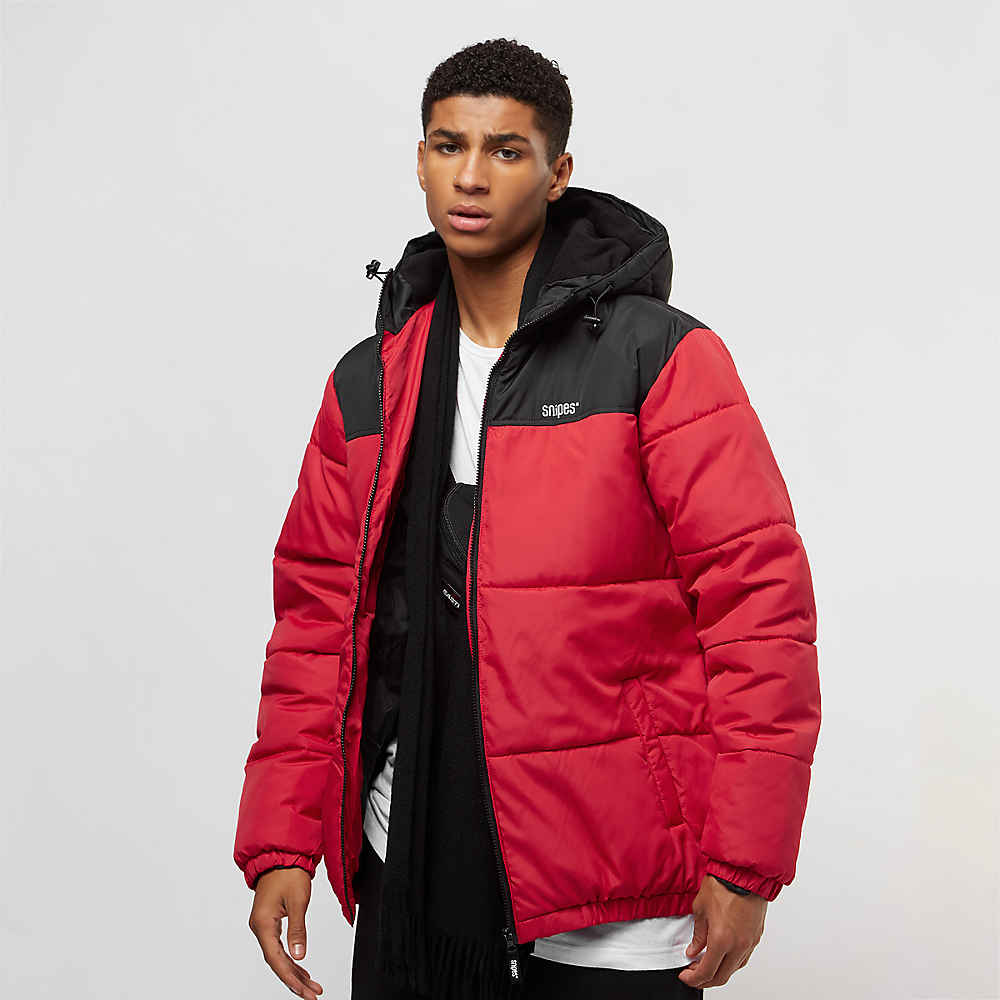Snipes Compra Blackred Hooded De Chaquetas Puffer Logo Chest 87qwnzd7