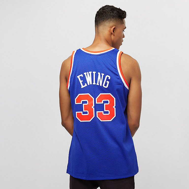 96dce1233a4 Mitchell   Ness NBA Swingman Patrick Ewing  33 New York Knicks royal orange