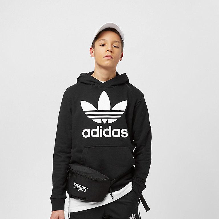 sneakers for cheap e7396 626c2 Felpa con cappuccio adidas Kids Trefoil in black/white su SNIPES