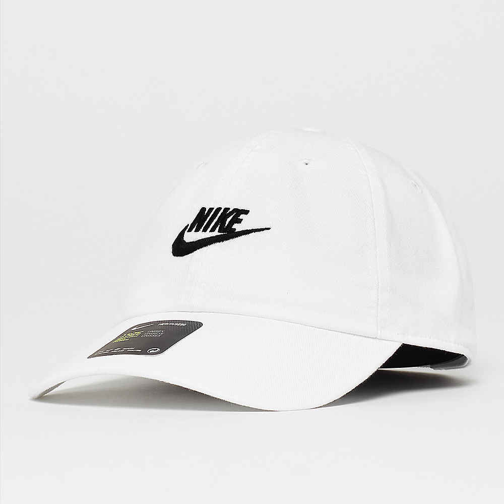 ef20a3ce0d7f6 NIKE Sportswear NSW H86 Futura Washed white/white/black Baseball Caps bei  SNIPES bestellen