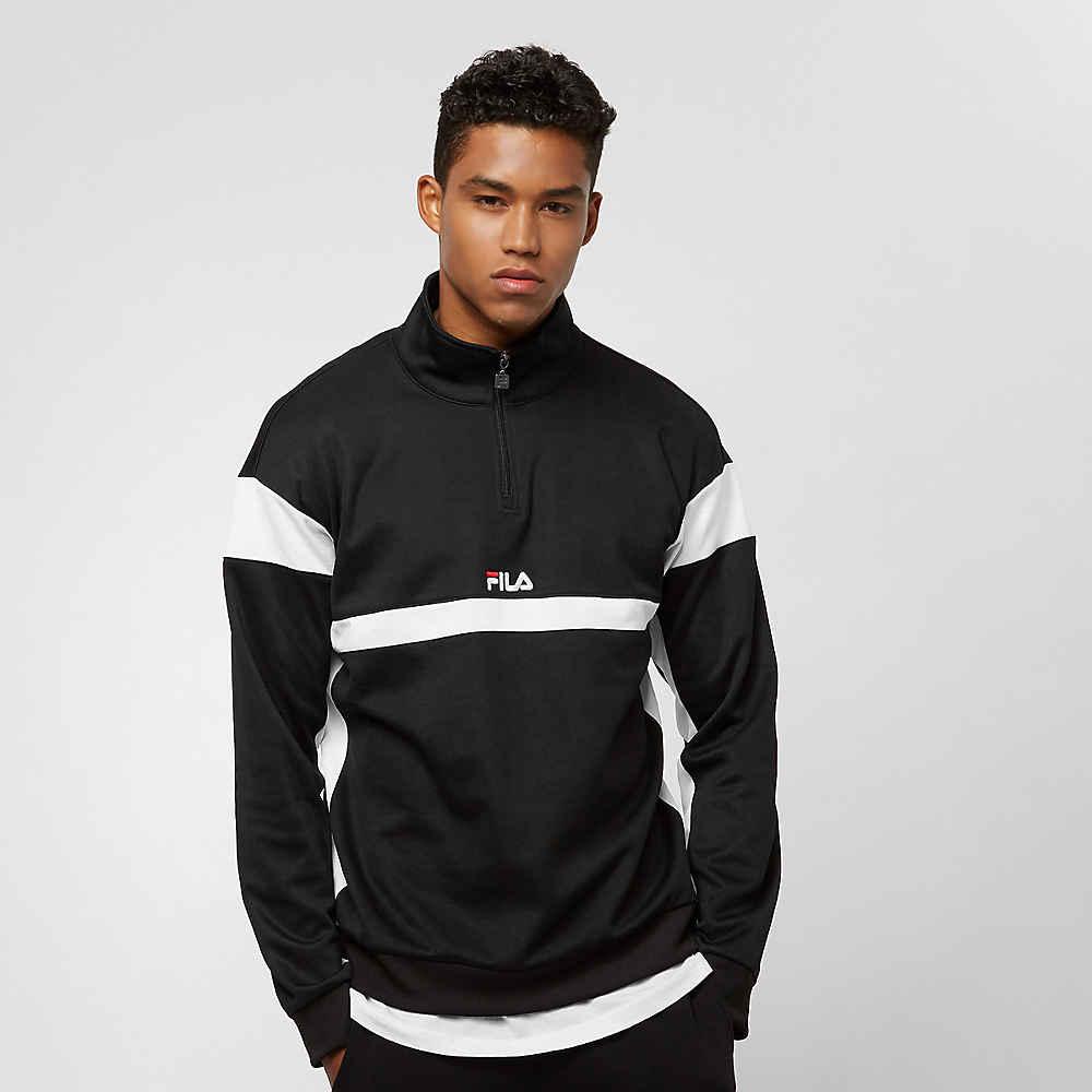 66546b966e33 Fila FILA Urban Line Herron Track Top Half Zip Pullover Black Hooded vesten  bij SNIPES bestellen