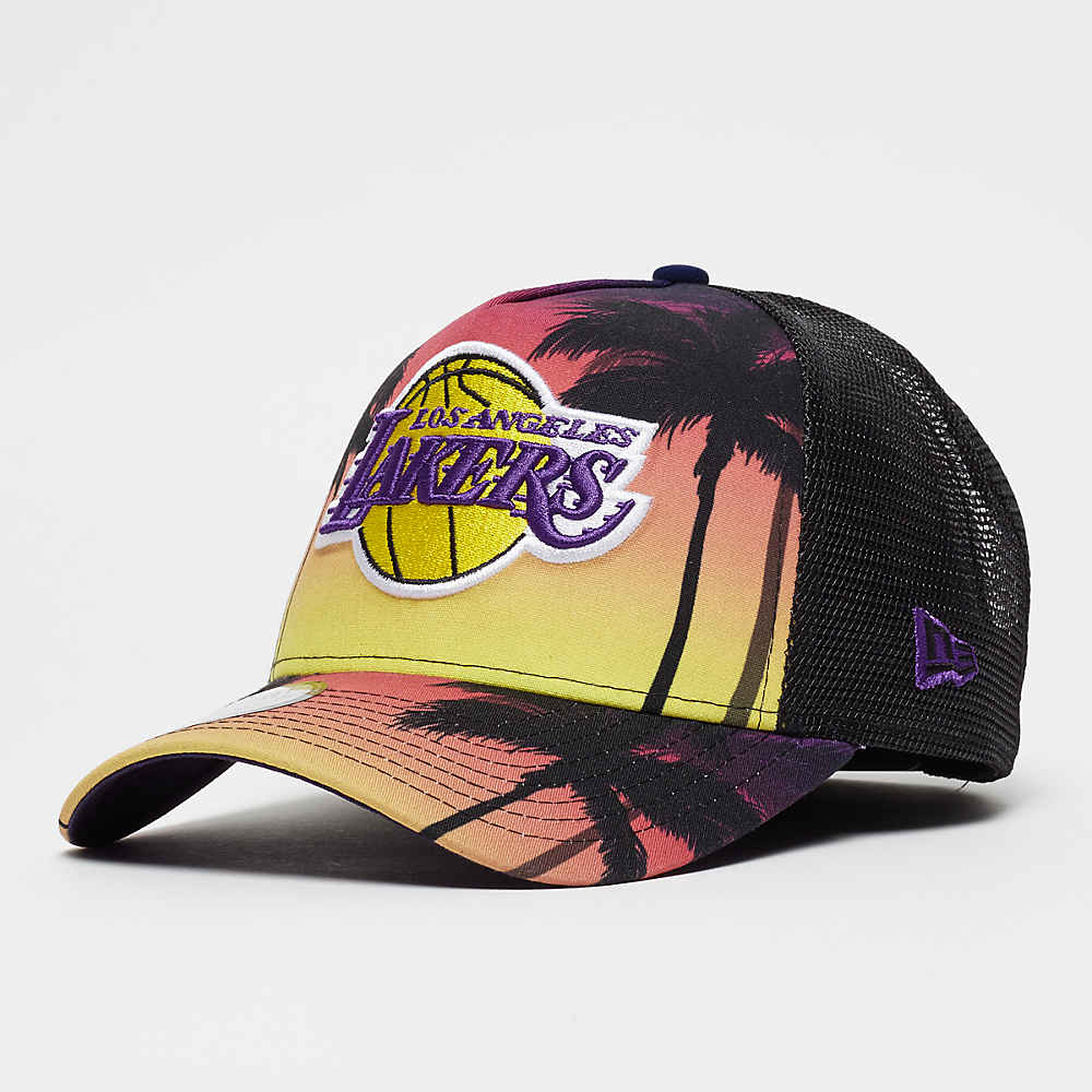 New Era NBA 9Forty Los Angeles Lakers Coastal Heat pink yelllow mult 53e7e6a4371e