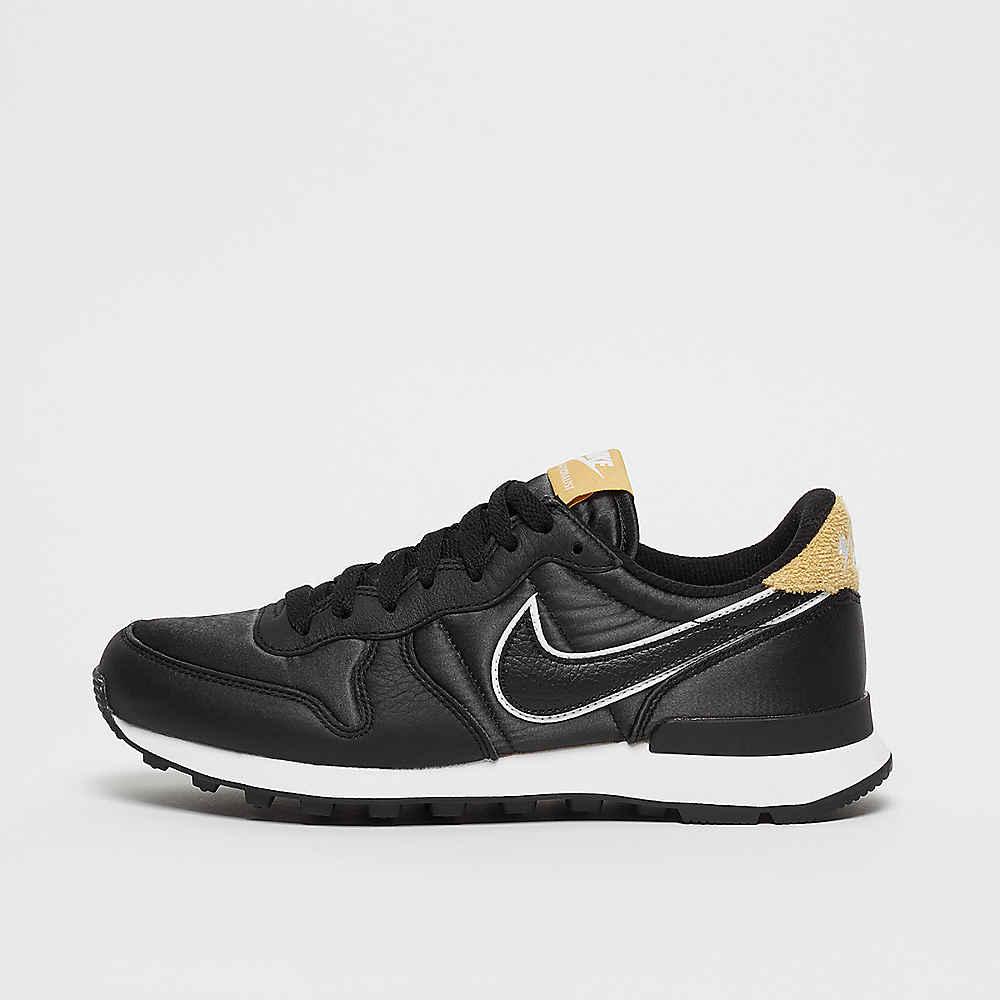 Schwarz Low Nike Internationalist Schuhe Sneaker Gold Heat