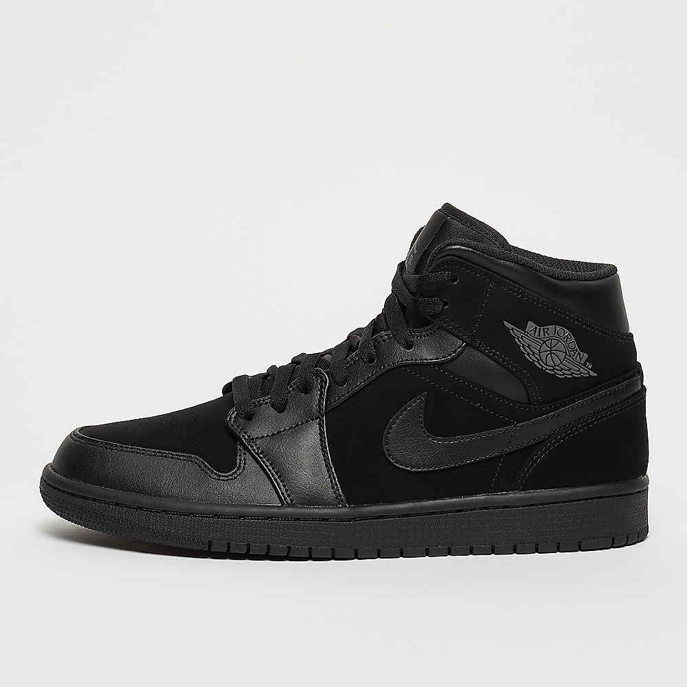 53f83bb5ba76 JORDAN Air Jordan 1 Mid black dark grey black Basketball bij SNIPES  bestellen