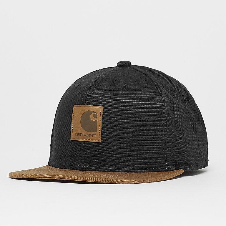 Carhartt WIP Logo Cap Bi-Colored black hamilton brown Snapback Caps bij  SNIPES bestellen 767cbb8ba