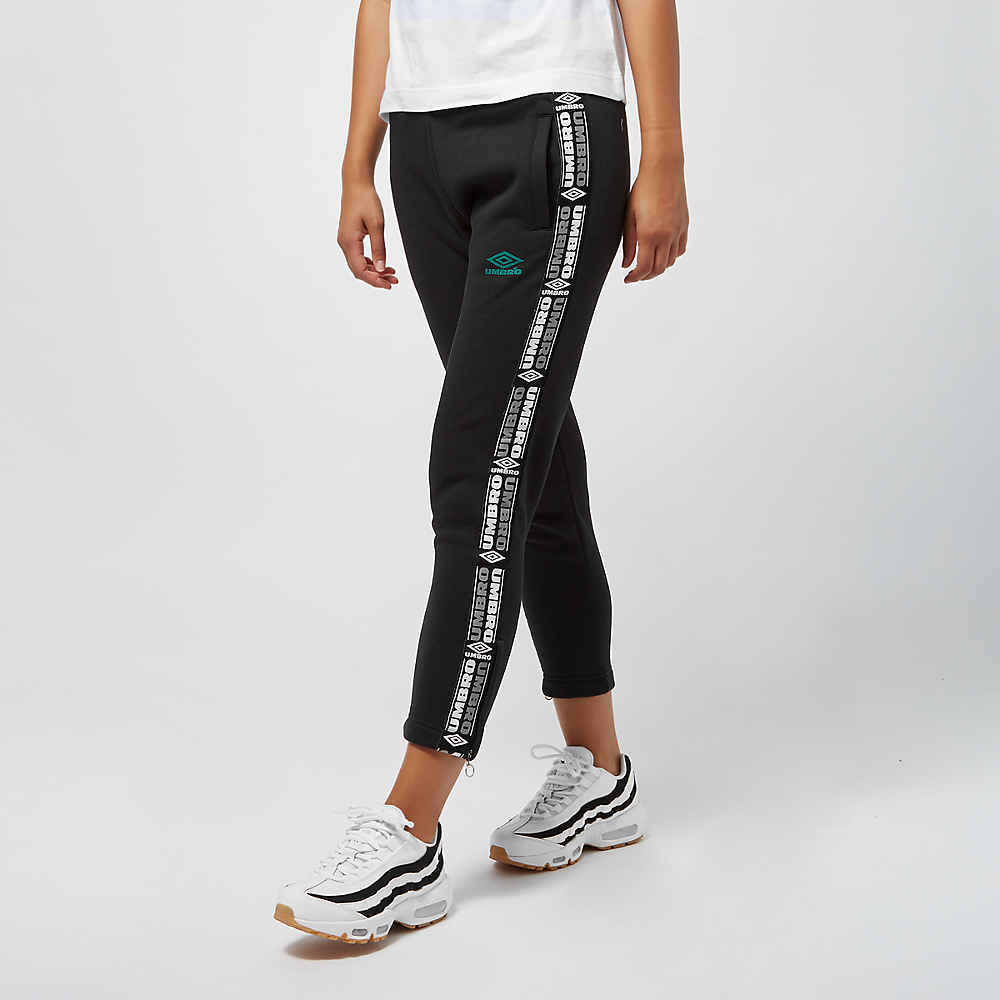 Umbro wmn Tape Side Crop Sweat Pant black