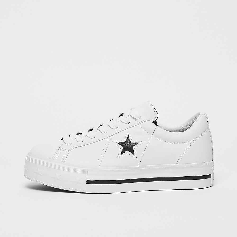 e687b81f6eac Converse One Star Platform OX white sneakers bij SNIPES