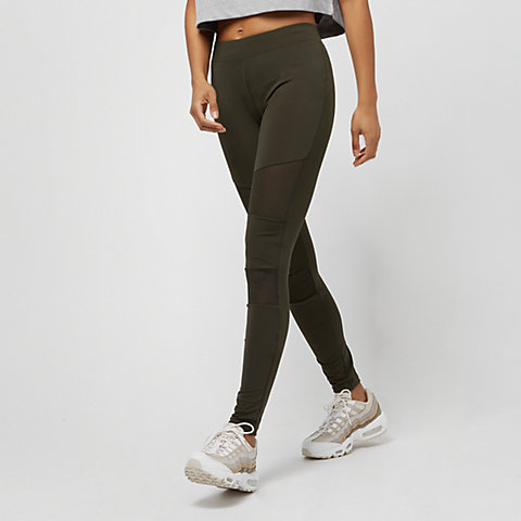 ab99cfdb4 Urban Classics Ladies Tech Mesh Leggings dark olive