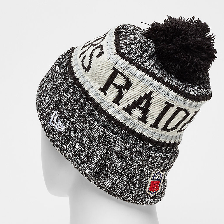 724d4fde8d2 New Era NFL Oakland Raiders Bobble Sideline Knit Home otc Beanies bei  SNIPES bestellen