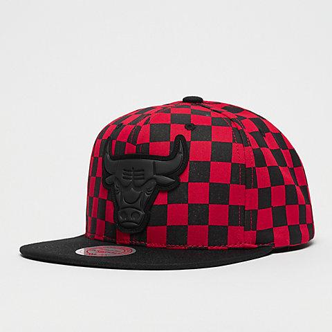 977be9dc55cae Mitchell & Ness NBA Chicago Bulls Checked B&R Crown red/black