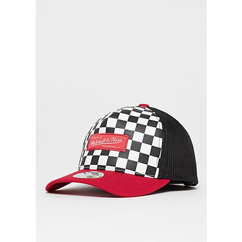 half off e6253 63663 Mitchell   Ness NBA M N Checkered Trucker 110 white red