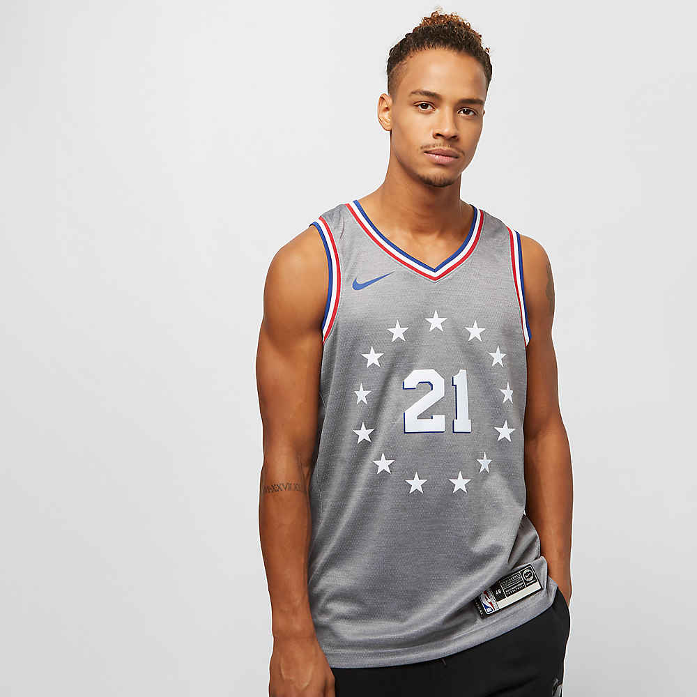 NIKE Basketball NBA Philadelphia 76ers Joel Embiid Swingman dark grey  heathe bei SNIPES bestellen 241196ecc