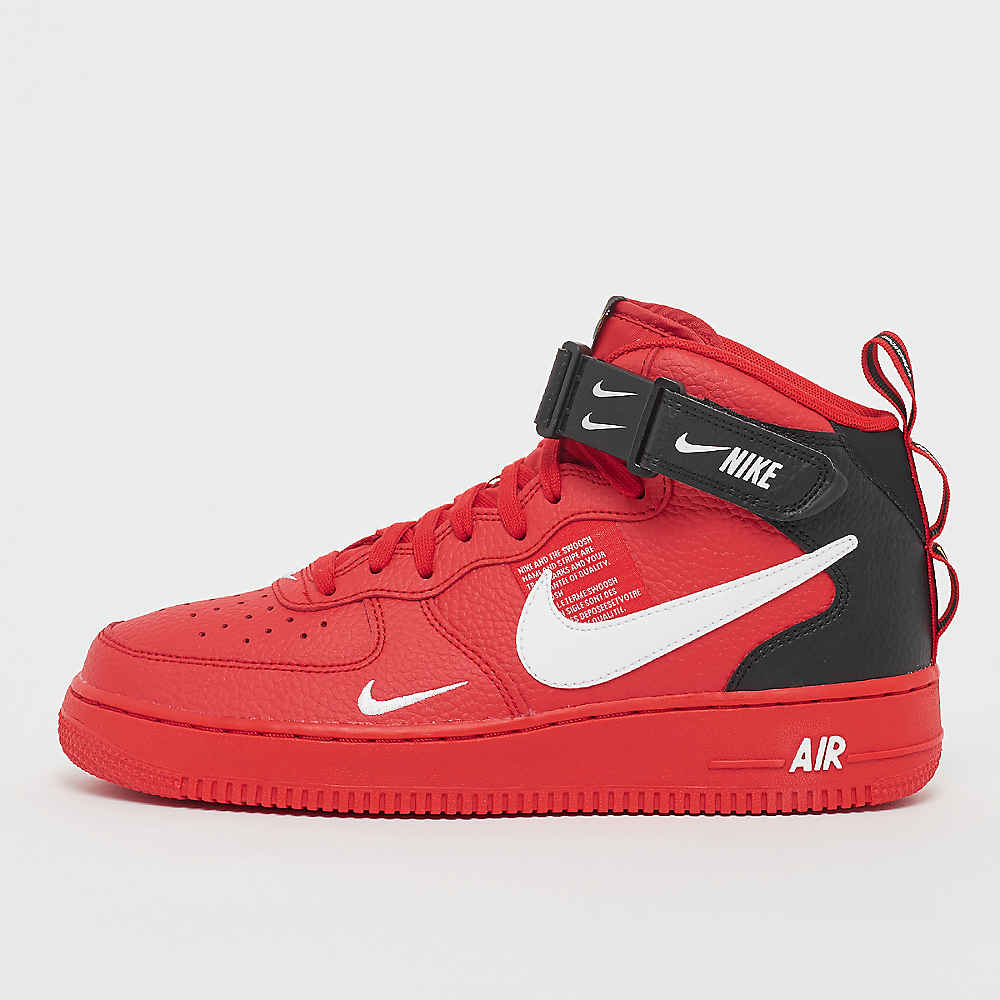 Commander NIKE Air Force 1 Mid  07 LV8 Utility university red white black yellow  Basketball chez SNIPES 88151e9d1