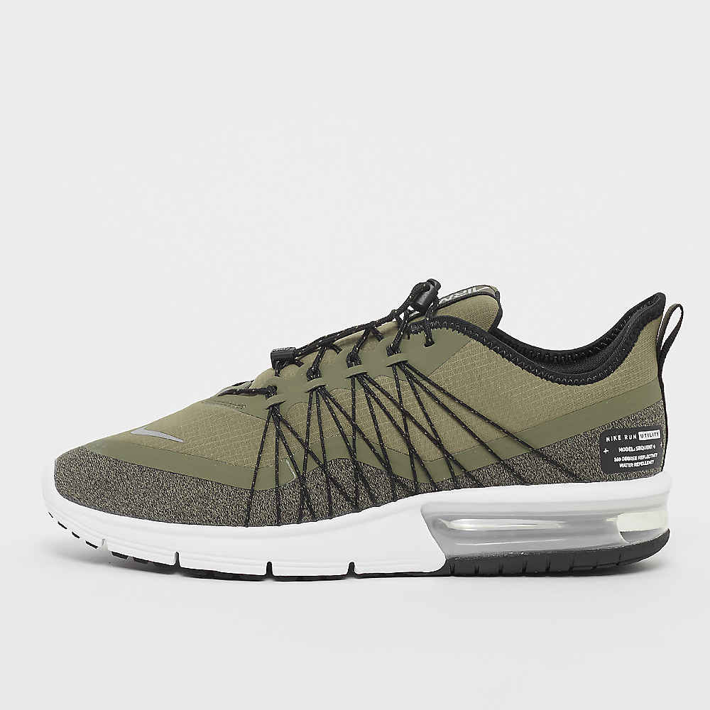 super popular 3dcb1 46c15 Commander NIKE Running Air Max Sequent 4 Shield olive/metallic  silver/black/white Running chez SNIPES