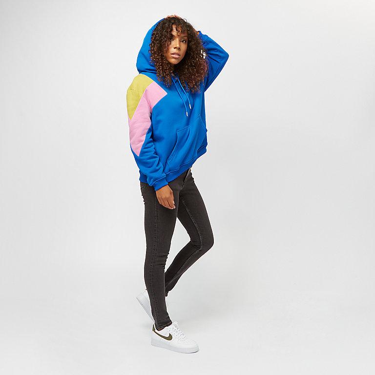 f40a92447fb5ce Urban Classics Ladies Oversize 3-Tone Block Hoody btghtblue lmnmsd coolpnk