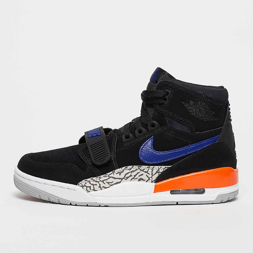Air Jordan Legacy 312 Knicks blackrush blue brilliant orange