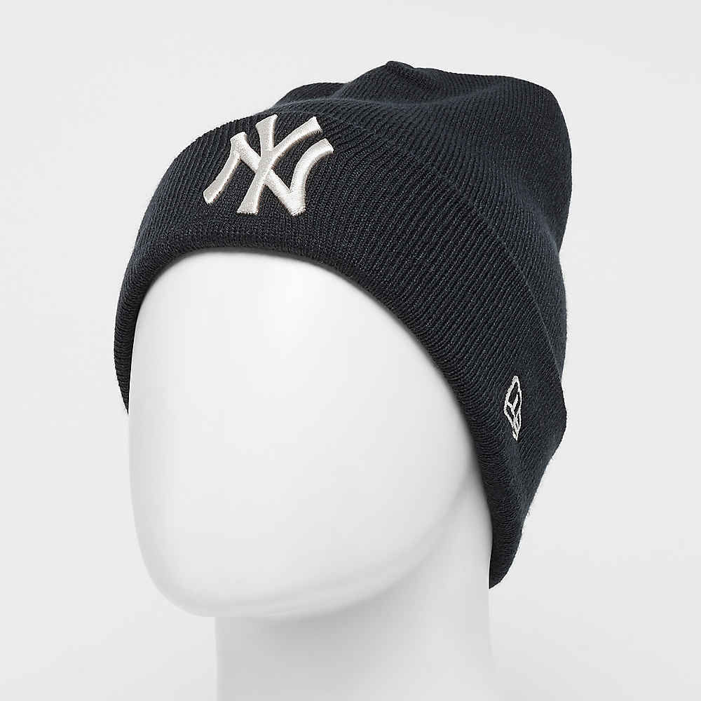 87af8044494 New Era Cuff Knit MLB New York Yankees Essential navy stone Beanies bei  SNIPES bestellen