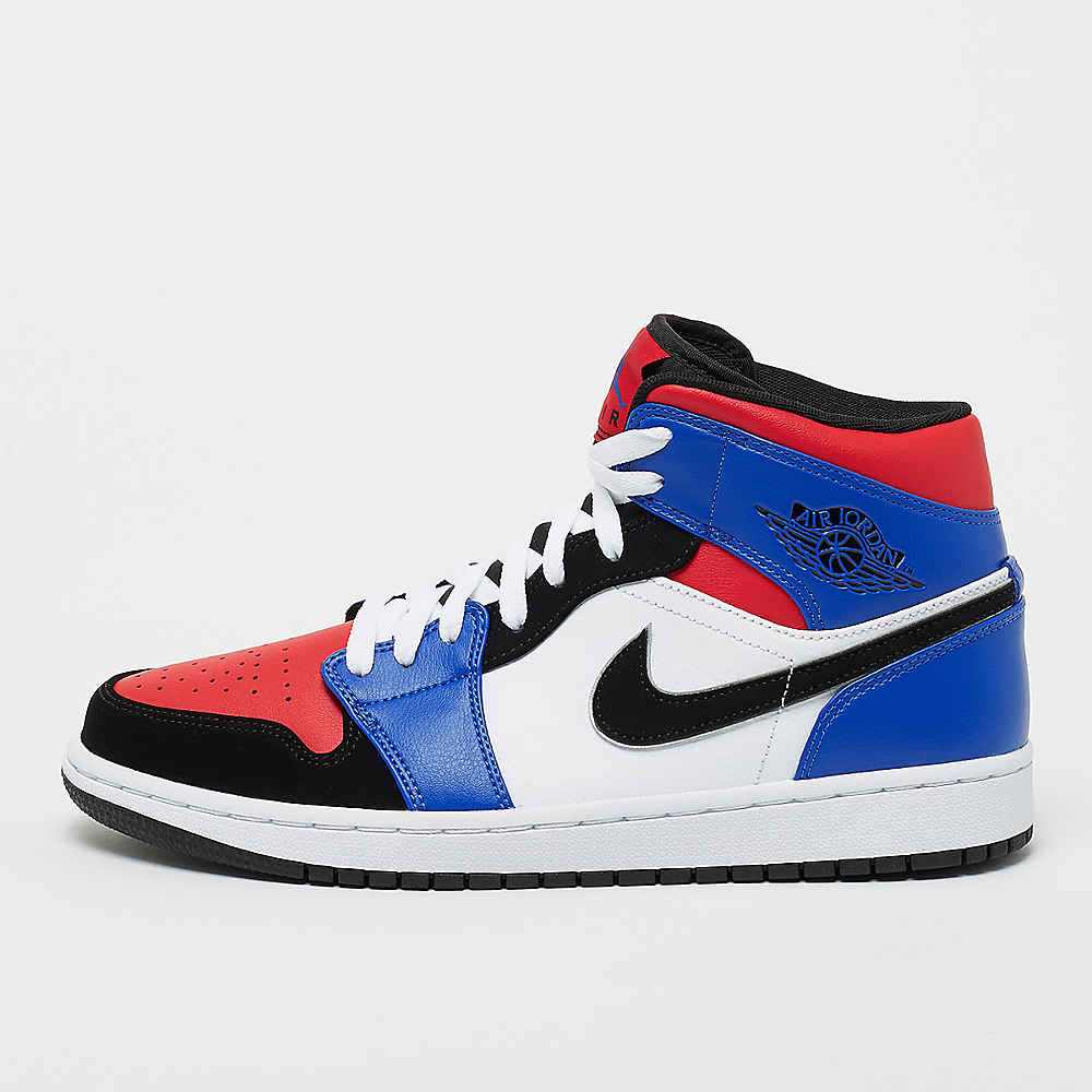 Air Jordan 1 Mid white/black/hyper royal/university red