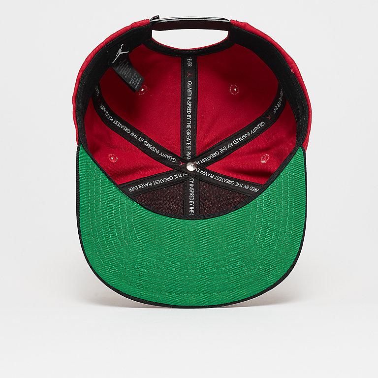 new arrival 40b9e b87e0 JORDAN Pro Script Cap gym red black pine green