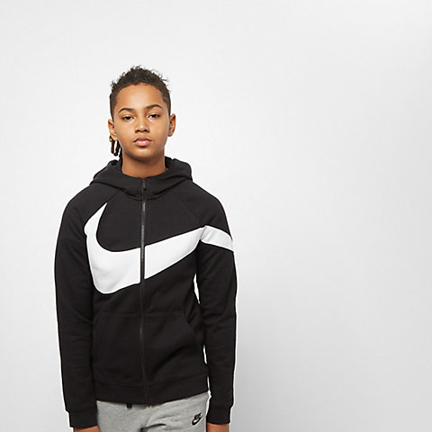 e304089e31 NIKE Sportswear Junior B NSW HBR Hoodie FZ FT STMT black/black/white/