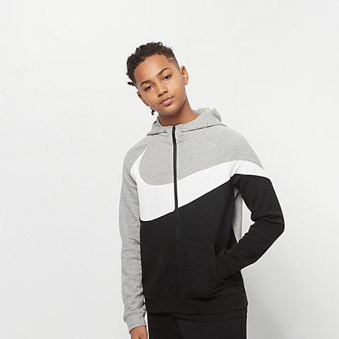 a6d7926e1c NIKE Sportswear B NSW HBR Hoodie FZ FT STMT dk grey heather/black/white