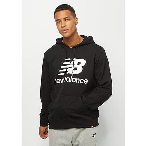 d6d4435eb43e7 New Balance Essentials Stacked Logo PO Hoodie black