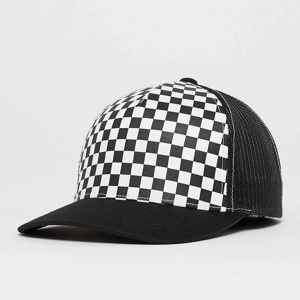 bf9de28e2337 Checkerboard Retro Trucker black/white